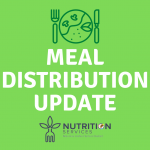 White Meal Distribution text over green background with meal icon and NUSD Nutrition Services logo